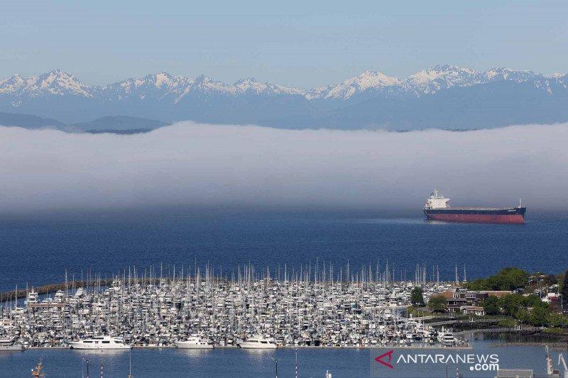 Ketika cuaca cerah dan udara bersih di Seattle, Washington, Amerika Serikat