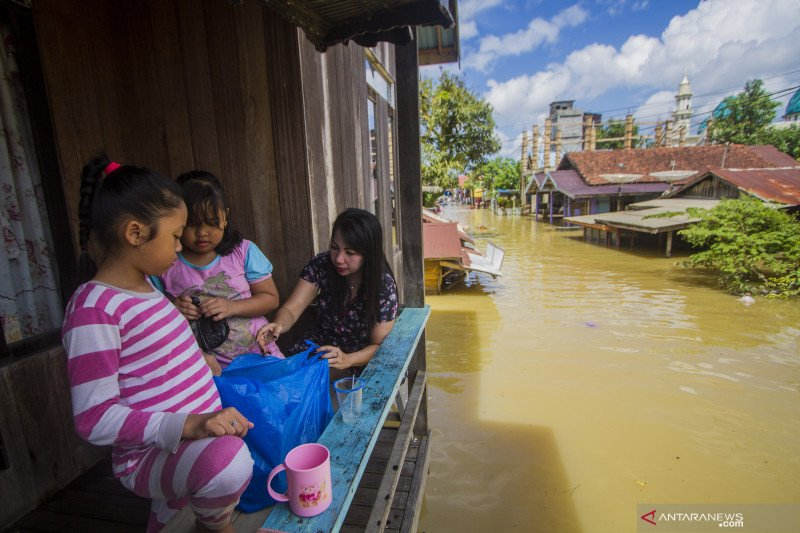 Banjir rendam kawasan permukiman warga di Kabupaten Tanah Bumbu