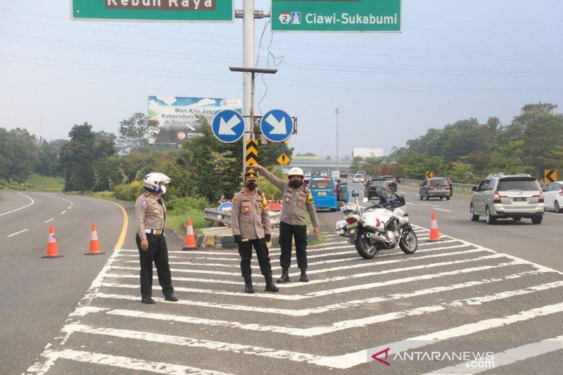 Polresta Bogor Kota tutup sementara Gerbang Tol Baranangsiang