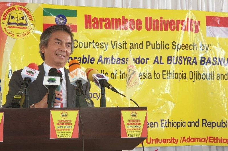 Dubes RI berikan kuliah umum, dorong diplomasi dengan pemuda Ethiopia