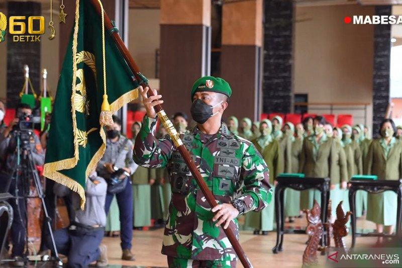 Kasad terima laporan kenaikan pangkat 25 perwira tinggi TNI AD
