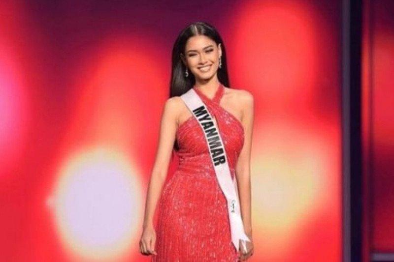 Miss Myanmar Thuzar Wint Lwin juara kontes kostum Miss Universe