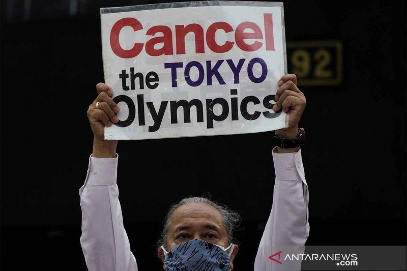 Aksi tolak pelaksanaan Olimpiade Tokyo