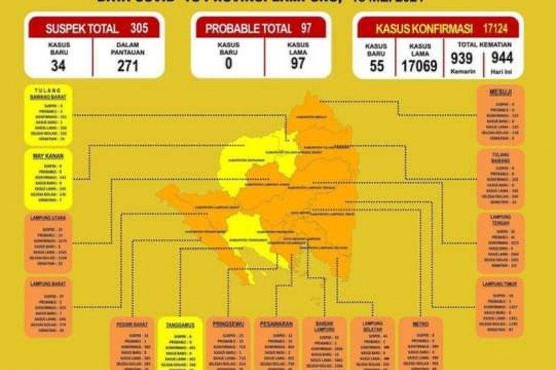 Tambah 267 H+5 Lebaran, positif COVID-19 di Lampung jadi 17.069 kasus