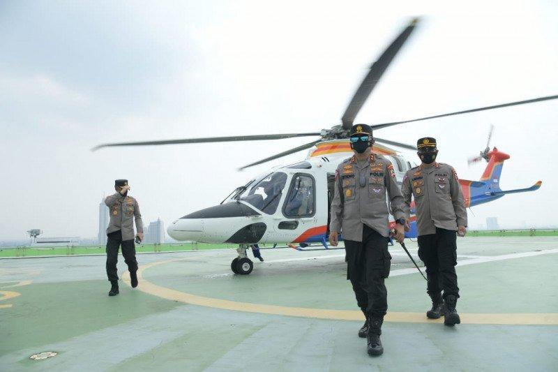Asops Kapolri dan Kakorlantas patroli udara pantau arus balik Sumatera