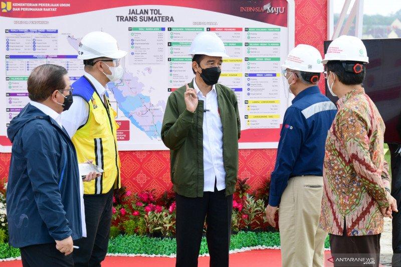Presiden tinjau proyek jalan tol Pekanbaru - Bangkinang