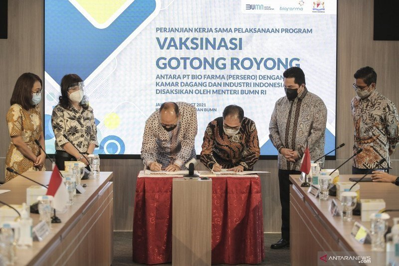 Indef usul insentif pajak bagi perusahaan ikut Vaksinasi Gotong Royong