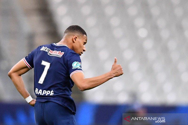 Kylian Mbappe pimpin PSG pertahankan trofi Piala Prancis