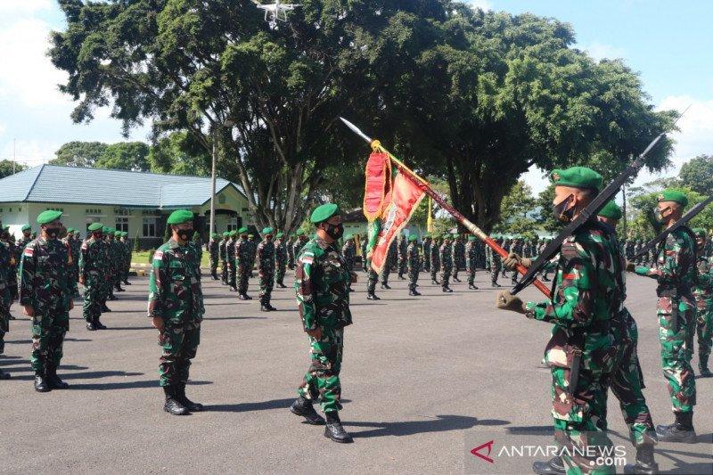 450 prajurit Yonif 144 diberangkatkan ke Kalimantan
