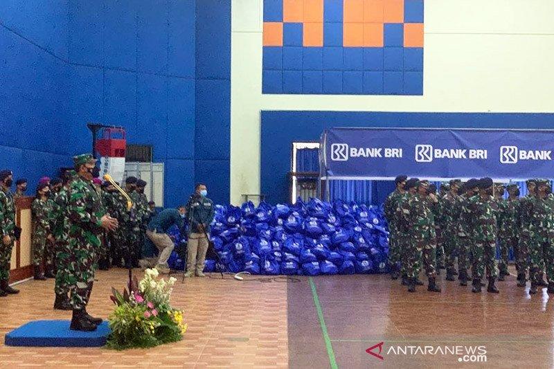BRI beri bantuan 21.300 paket sembako kepada prajurit TNI AD