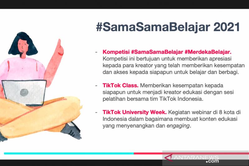 Strategi TikTok dukung pendidikan lewat #SamaSamaBelajar 2021