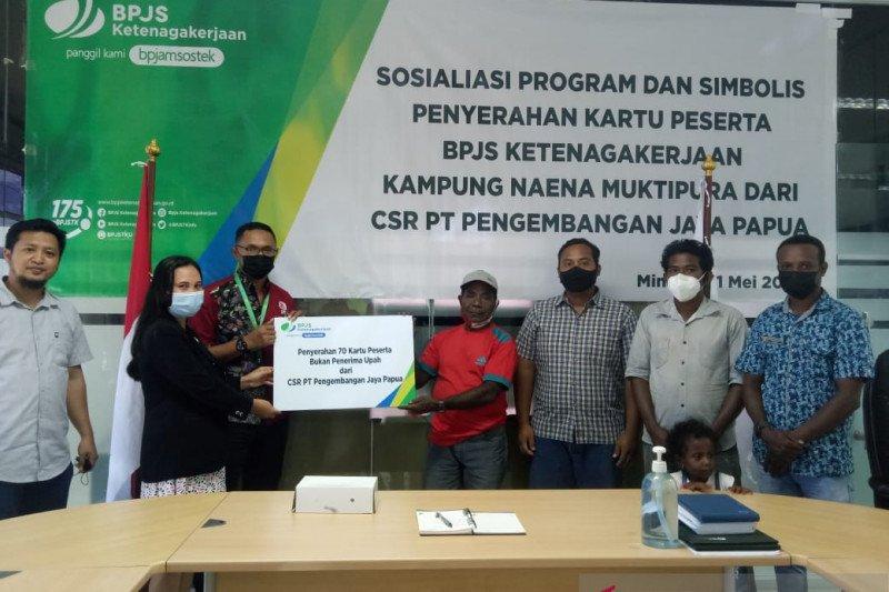 PT PJP tanggung iuran Jamsostek 70 warga SP6 Kabupaten Timika