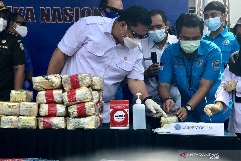 BNN musnahkan 794,62 kg sabu hasil sita Januari-Mei 2021
