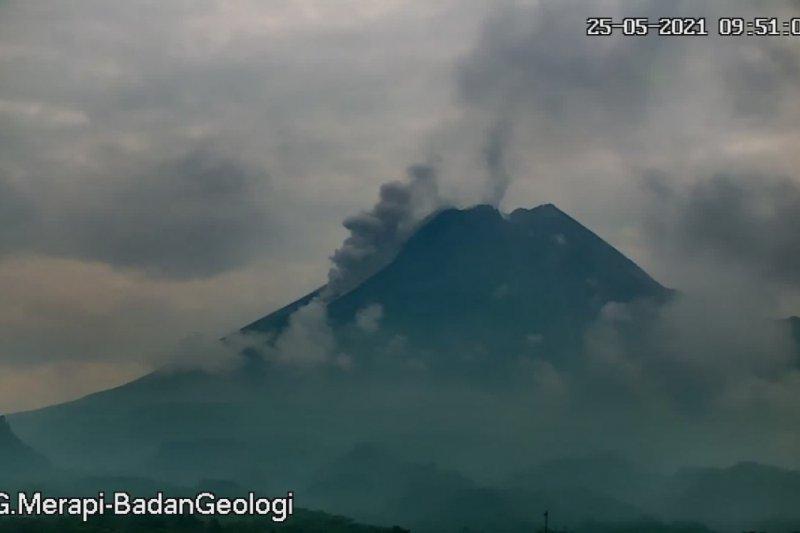 Awan panas guguran meluncur dari Gunung Merapi sejauh 1 km