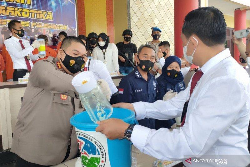 Polrestabes Palembang musnahkan narkoba senilai Rp2,5 miliar