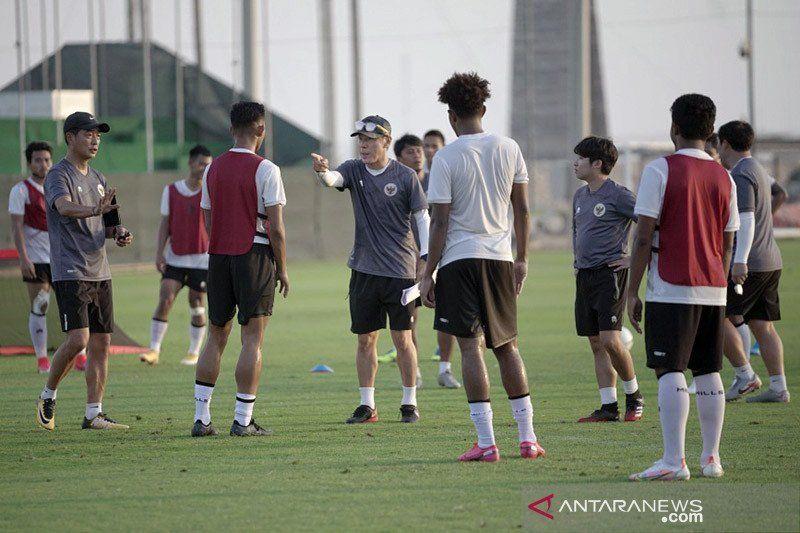 Shin Tae yong konsentrasi pemain kunci utama hadapi Afghanistan