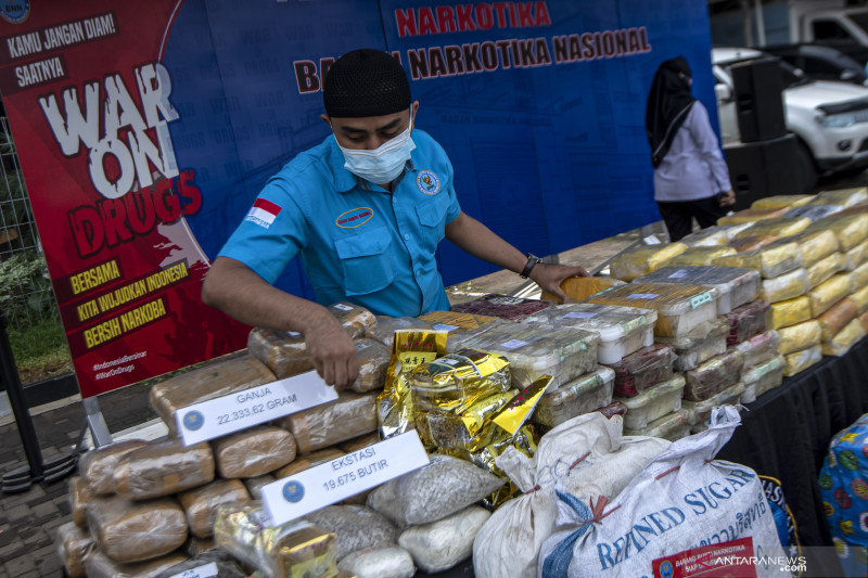 BNN musnahkan barang bukti narkotika