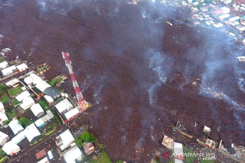 Kongo evakuasi sebagian kota yang terdampak letusan Gunung Nyiragongo