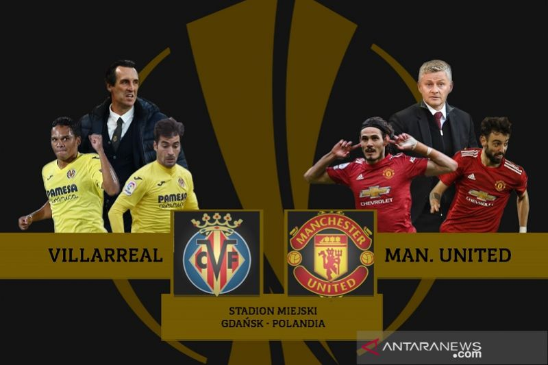 Head-to-head Villarreal vs Manchester United jelang final Liga Europa