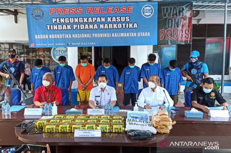 BNN Kaltara amankan 20 kilogram sabu asal Tawau Malaysia