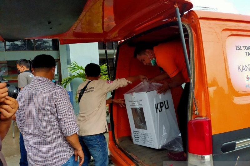 KPU mulai distribusikan logistik PSU Pilgub Jambi ke TPS