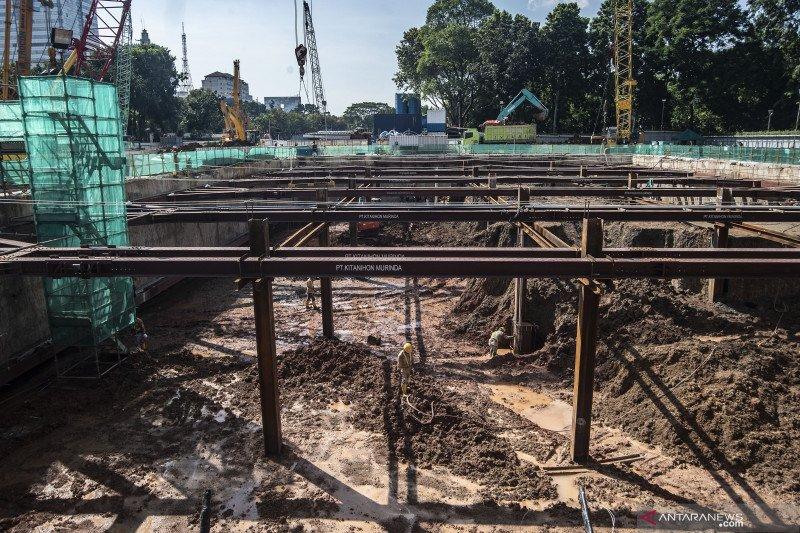 Pembangunan Stasiun MRT Thamrin-Monas capai 16 persen