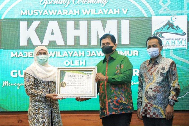 KAHMI Jatim beri penghargaan Khofifah terkait penanganan COVID-19
