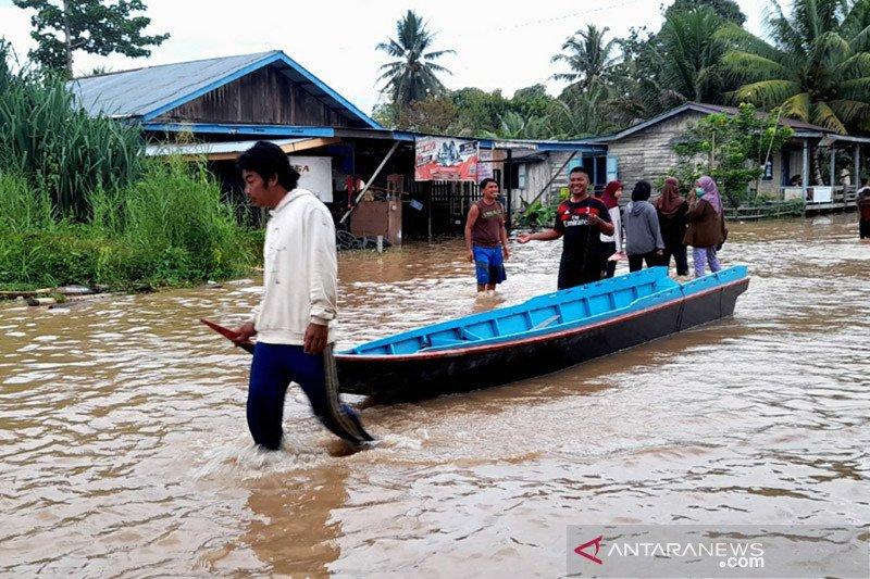Banjir di Nunukan Kaltara berangsur surut