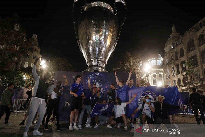 Euforia penggemar usai The Blues menang Liga Champions