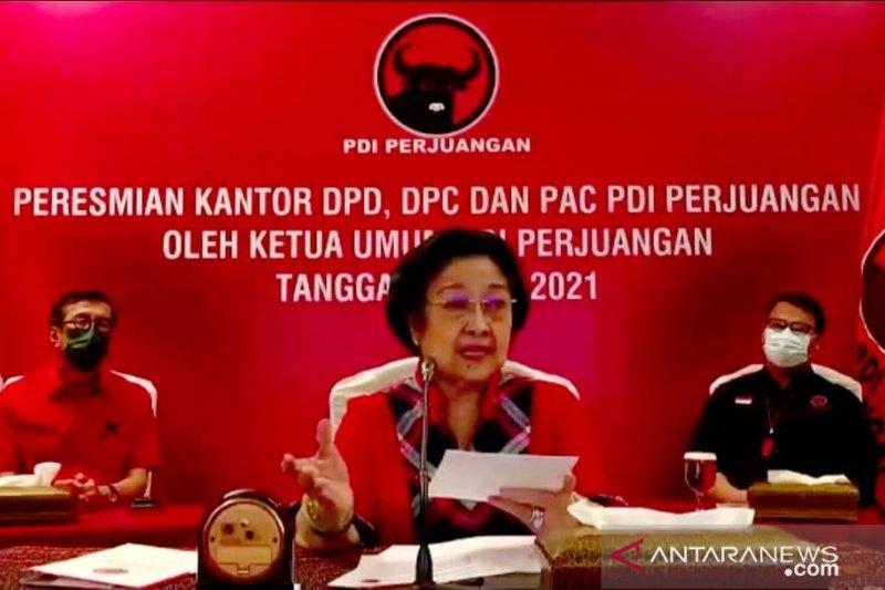 Megawati sebut kantor PDIP rumah rakyat saat resmikan 25 kantor baru