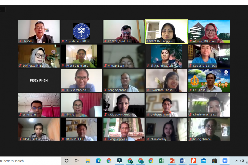 IPB-SEAMEOCECCEP latih guru PAUD Kamboja tentang pendidikan karakter