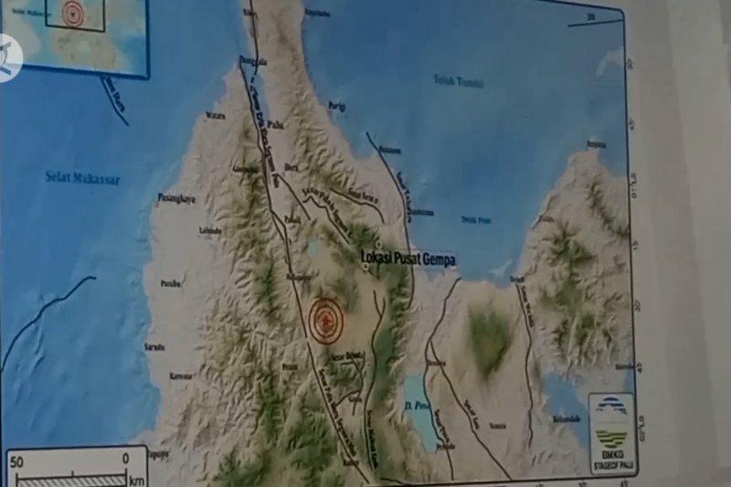 Sesar lokal picu 28 kali gempa dalam sepekan di Sigi