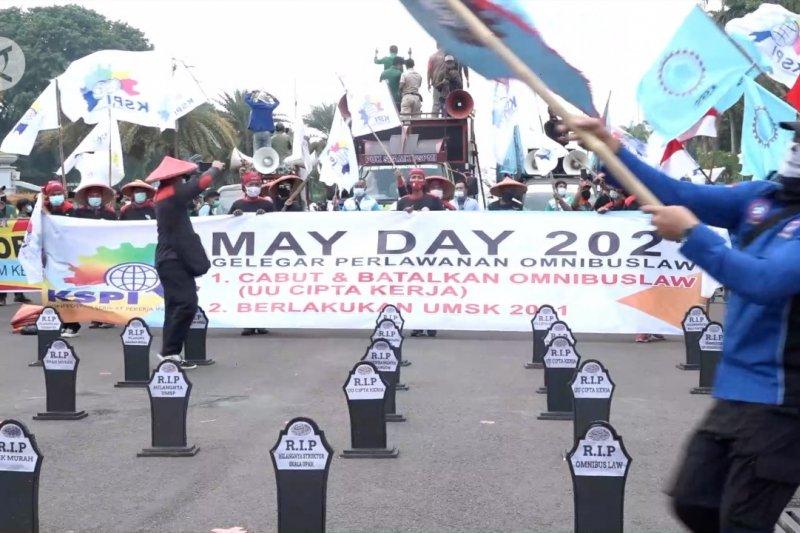 Terapkan prokes, 300 buruh peringati May Day di DKI