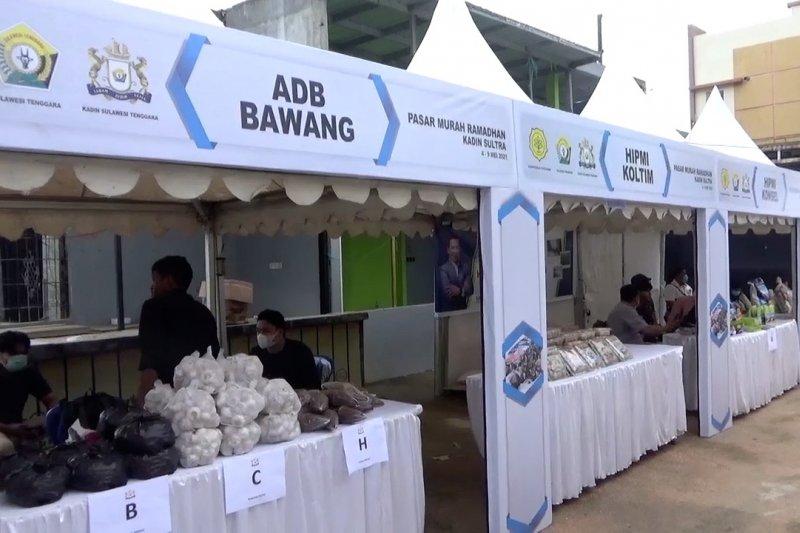 Kadin Sultra gelar Pasar Murah Ramadhan untuk stabilkan harga