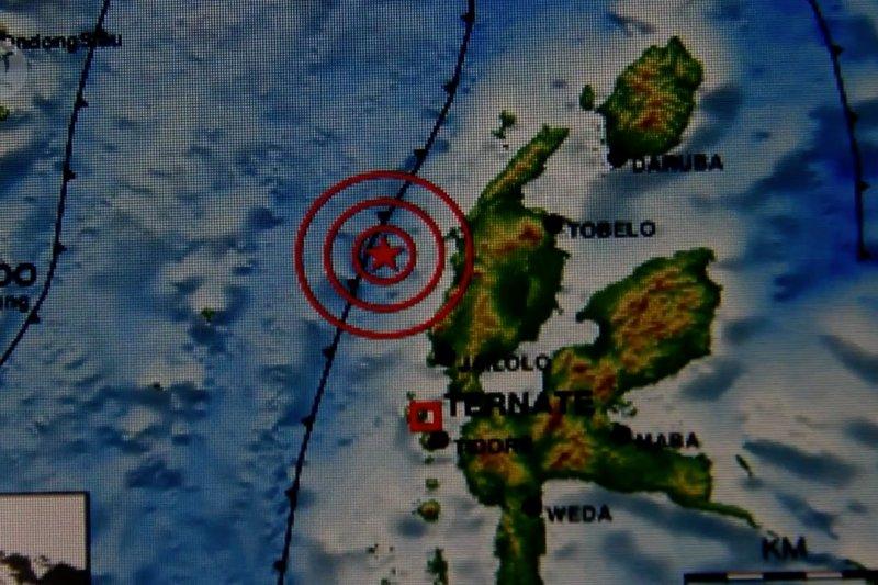 Gempa bumi magnitudo 5,7 guncang Halmahera Barat