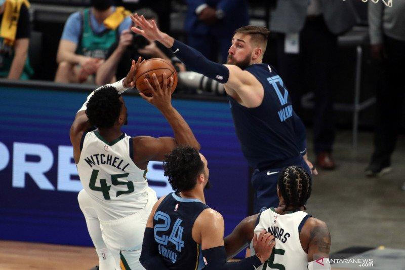 Jazz lolos ke semifinal Wilayah Barat usai tekuk Grizzlies 126-110