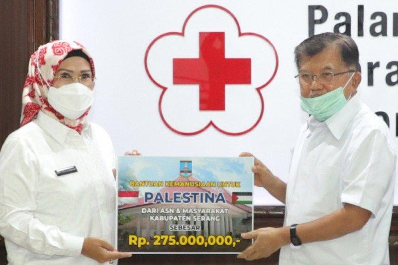 Bupati Serang serahkan donasi ASN untuk Palestina via PMI Pusat