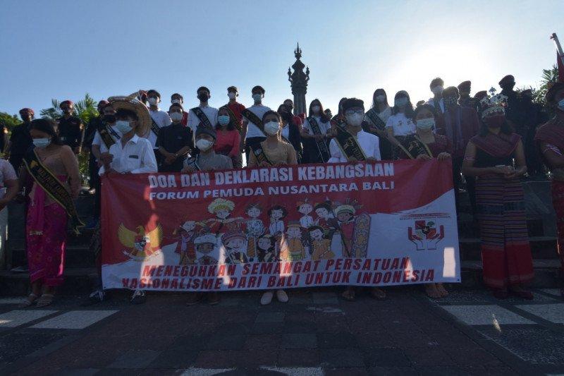 Puluhan pemuda Bali serukan semangat nasionalisme cegah radikalisme