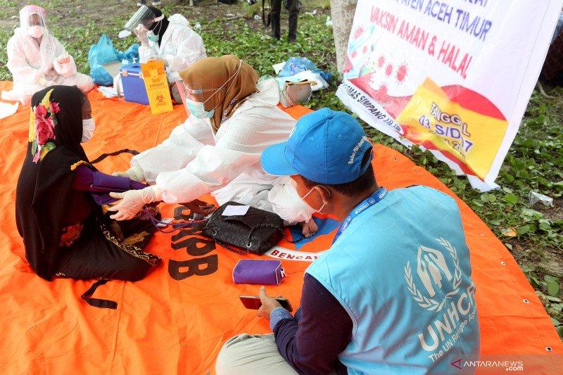 Vaksinasi COVID-19 untuk pengungsi Rohingya