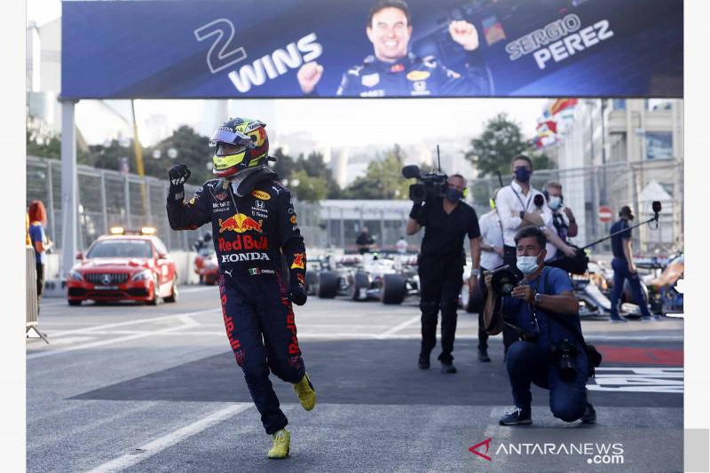 Sergio Perez jadi kampiun di Sirkuit Kota Baku Azerbaijan