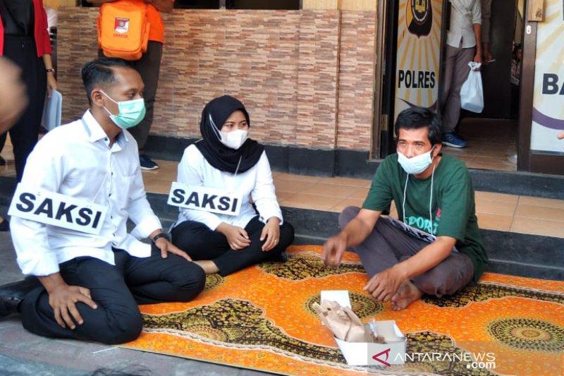 Polres gelar rekonstruksi kasus satai beracun tewaskan bocah di Bantul