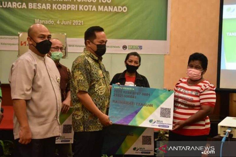 Korpri gandeng BPJAMSOSTEK lindungi ratusan pekerja rentan Manado