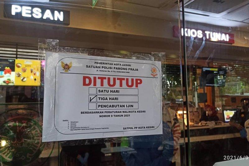 Pemkot Kediri menutup sementara gerai makanan cepat saji