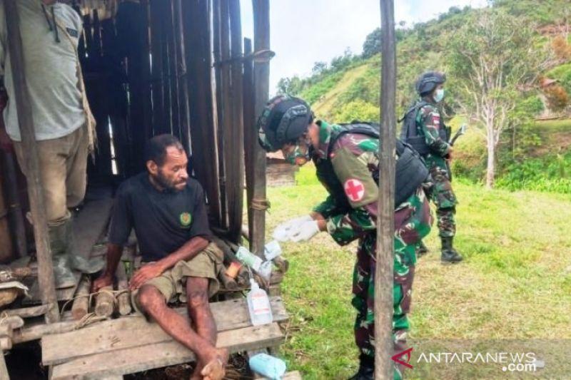 Layanan kesehatan gratis digelar Satgas TNI RI-PNG untuk warga OAP