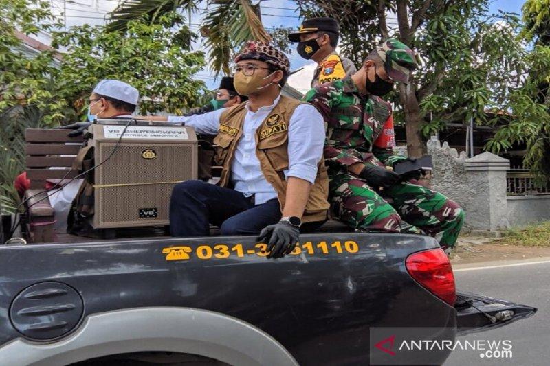 Bupati Bangkalan siaran keliling terkait protokol kesehatan