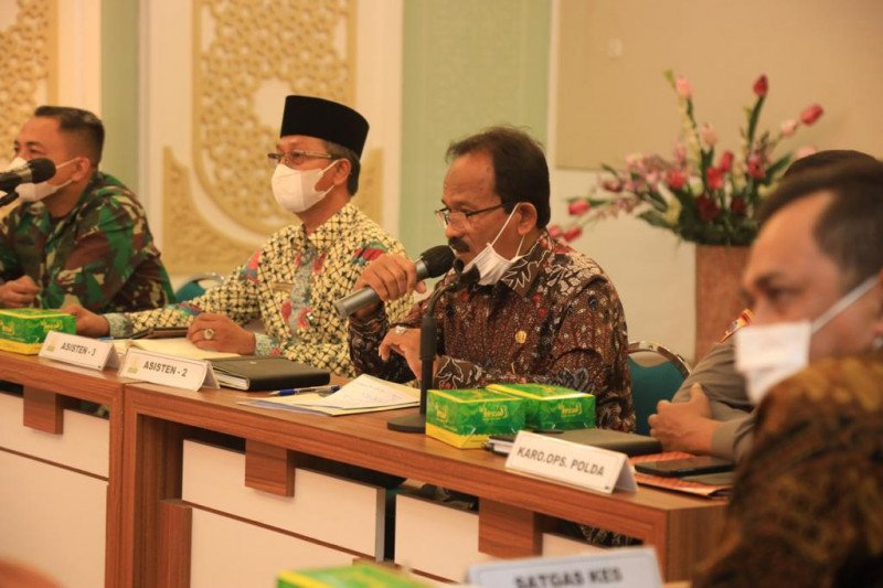 Pemerintah Aceh  atensi lima kabupaten/ kota tertinggi kasus COVID-19