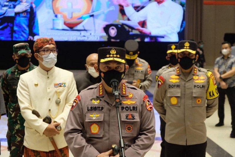 Kapolri ingatkan warga Bandung disiplin prokes usai divaksin