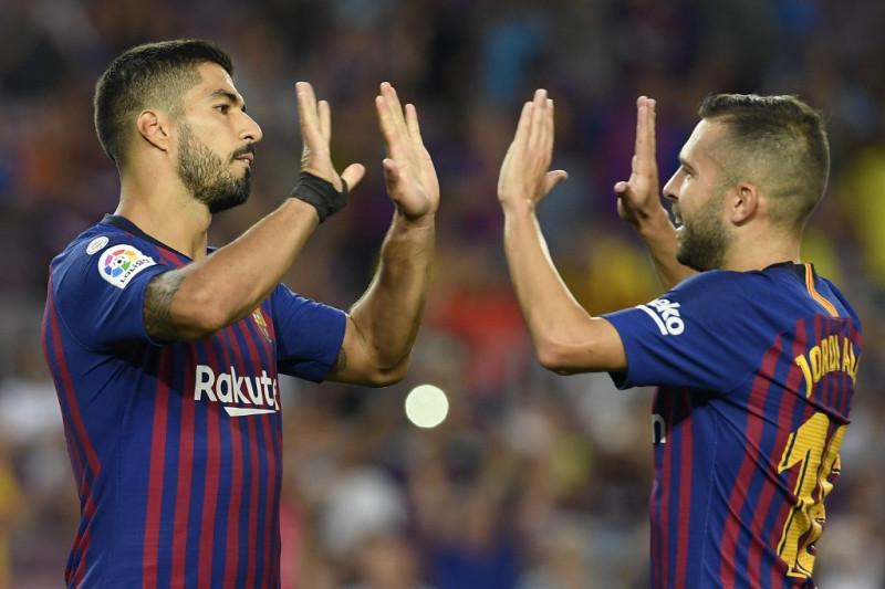 Jordi Alba kritik klubnya karena lepas Luis Suarez ke Atletico