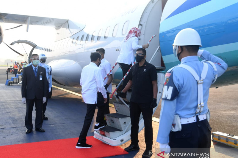 Presiden ke Jateng tinjau infrastruktur dan vaksinasi massal