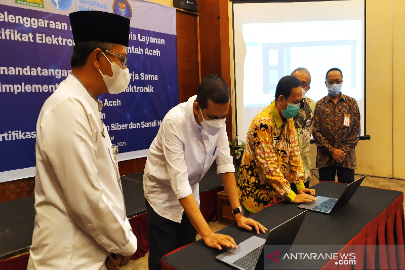 BSSN lakukan kerja sama sertifikat elektronik dengan Pemprov Aceh